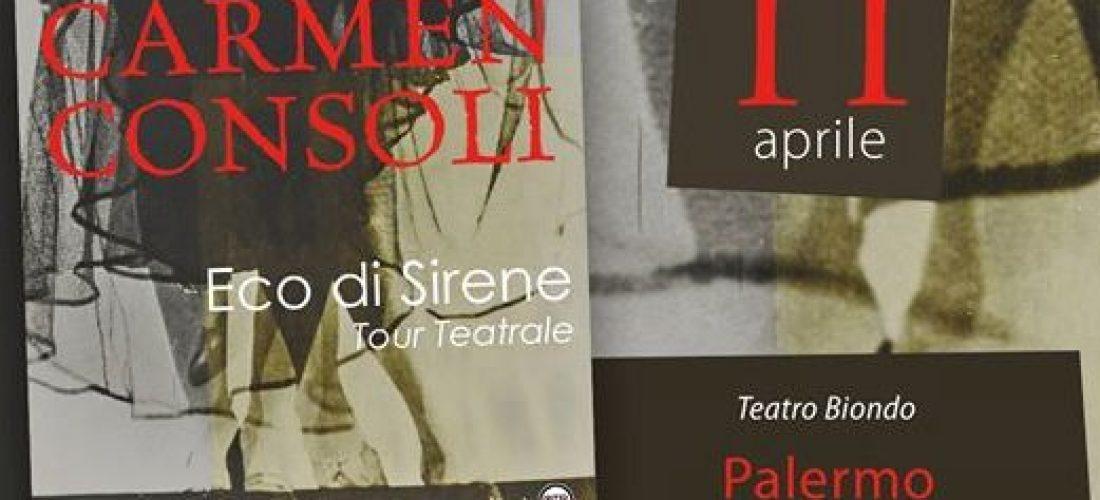 Carmen Consoli in concerto a Palermo l'11 aprile 2017